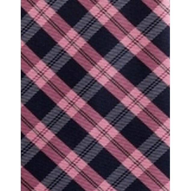 Tommy Hilfiger Men's Brooklyn Classic Plaid Tie Pink Size Regular