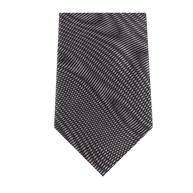 DKNY Men's Electronic Wavelengths Slim Abstract Silk Tie Gray Size Regular