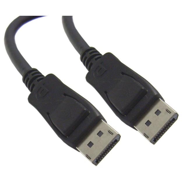 DisplayPort 1.2 Video Cable, DisplayPort Male, 3 foot