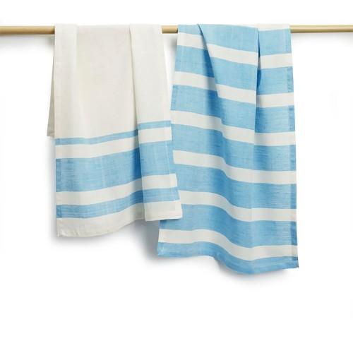 "Spura Home Kitchen Hand Woven Cotton Absorbent Tea Towels 27""x19"" Set of 2"