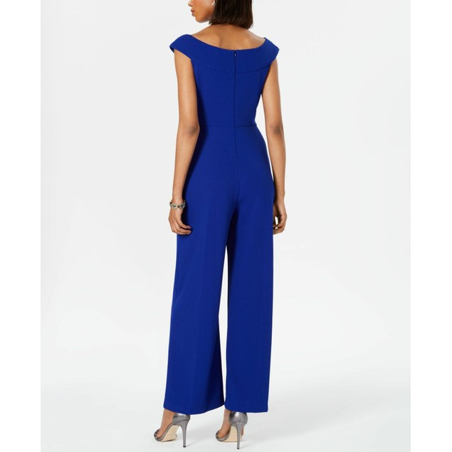 Connected Women's Wide-Leg Jumpsuit Blue Size 8
