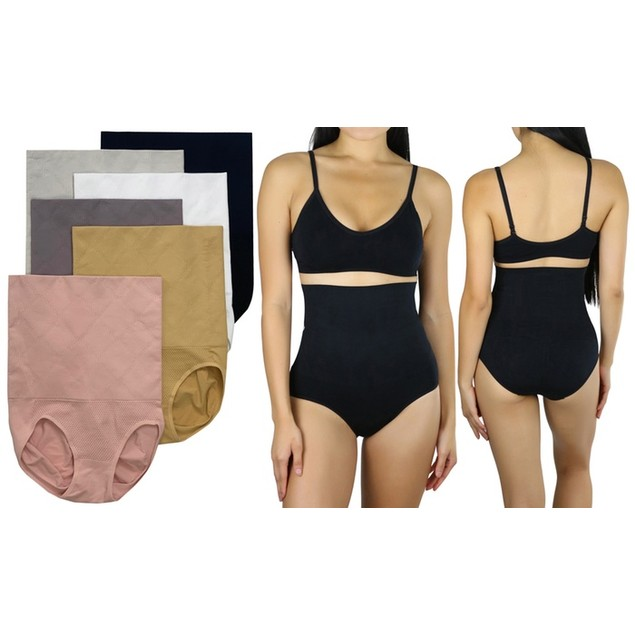 (6-Pack) ToBeInStyle Women's Enhancing Double Layered Shaping Control Briefs