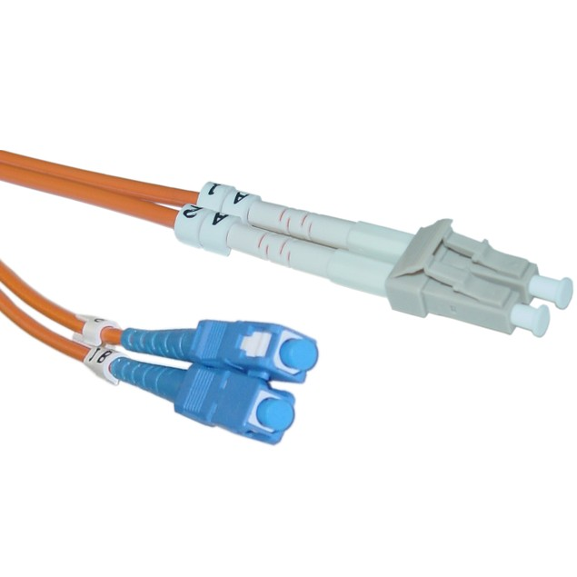 Fiber Optic Cable, LC / SC, Multimode, Duplex, 10 meter (33 foot)