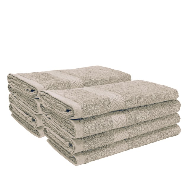 Eco-Friendly Cotton 8-Piece Hand Towel Set, by Blue Nile Mills