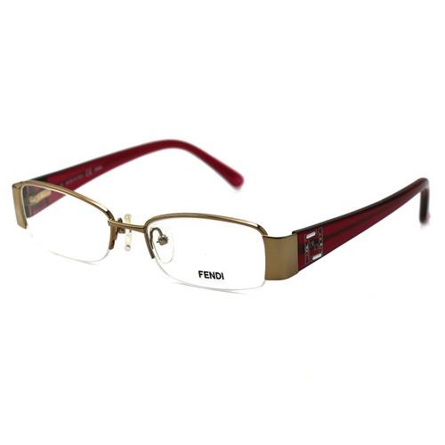Fendi Women's Eyeglasses F1043R 663 Gold Rose 49 17 135 Semi-Rimless Rectangular