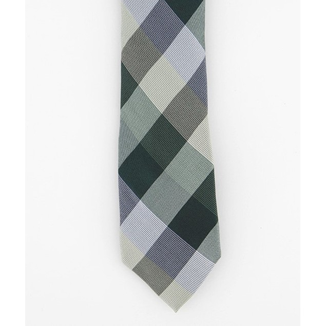 Ryan Seacrest Distinction Men's Weho Silk Tie Dark Green Size Regular