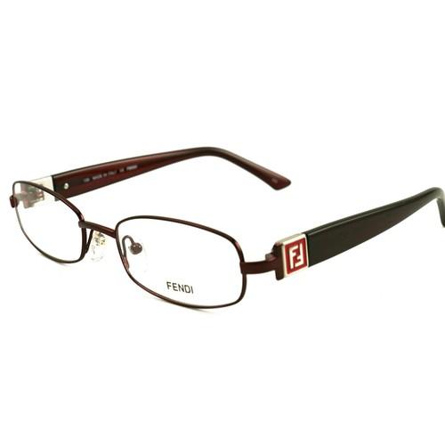 Fendi Women Eyeglasses FF905 519 Burgundy 52 19 130 Full Rim Oval