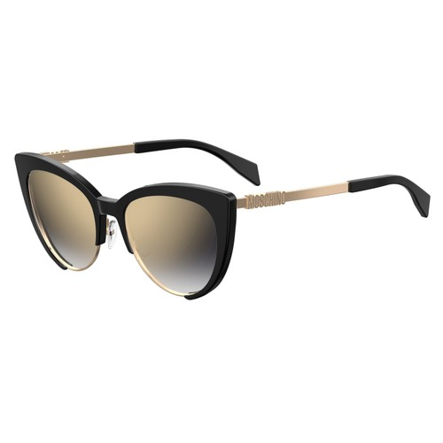 Moschino Womans Sunglasses MOS040S 0807 Black    Cat Eye/Butterfly Gradient/Mirror