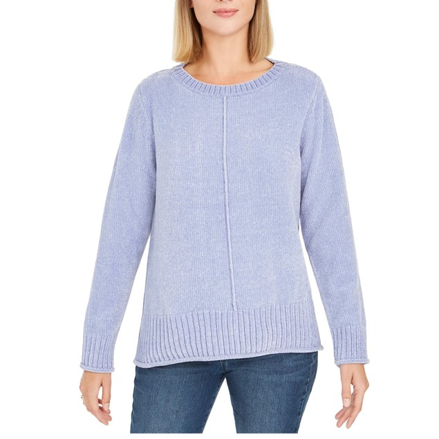 Style & Co Women's Chenille Sweater Navy Size X-Large