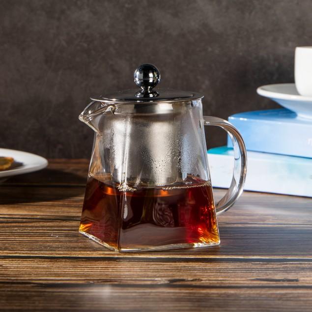 Glass Infuser Teapot   MandW 300ml