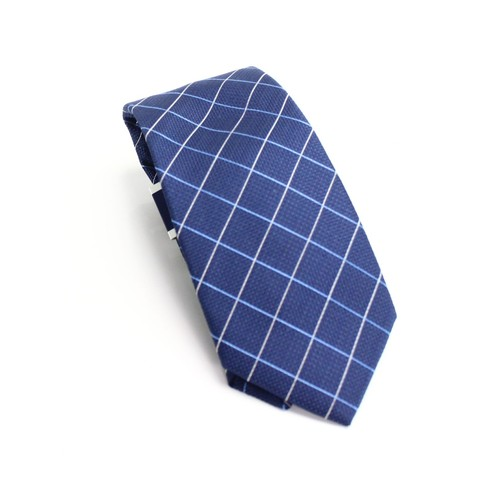 Club Room Men's Classic Grid Tie Blue Size Regular