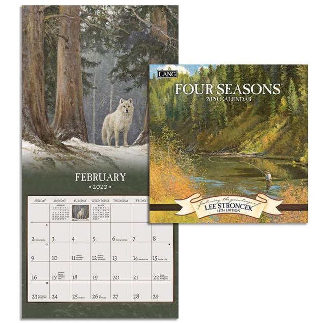 Four Seasons Mini Wall Calendar, LANG Wall Calendar by Calendars
