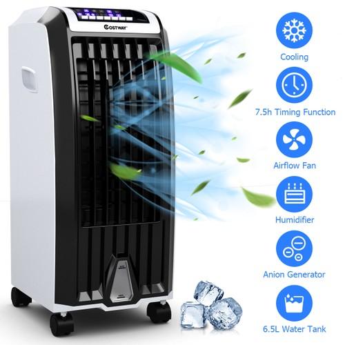 Costway Evaporative Portable  Cooler Fan Anion Humidify W/ Remote Control