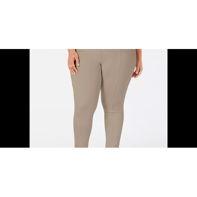 Style & Co Women's Seamed Ponte Leggings Dark Gray Size 18W
