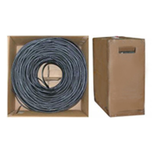 Quad Shielded Bulk RG6 Coaxial Cable 18 AWG, Solid Core, Pullbox, 1000 foot