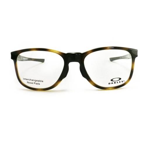 Oakley Gloverleaf MNP Brown Tortoise Eyeglasses OX8102-04 Demo Lens 52 18 135