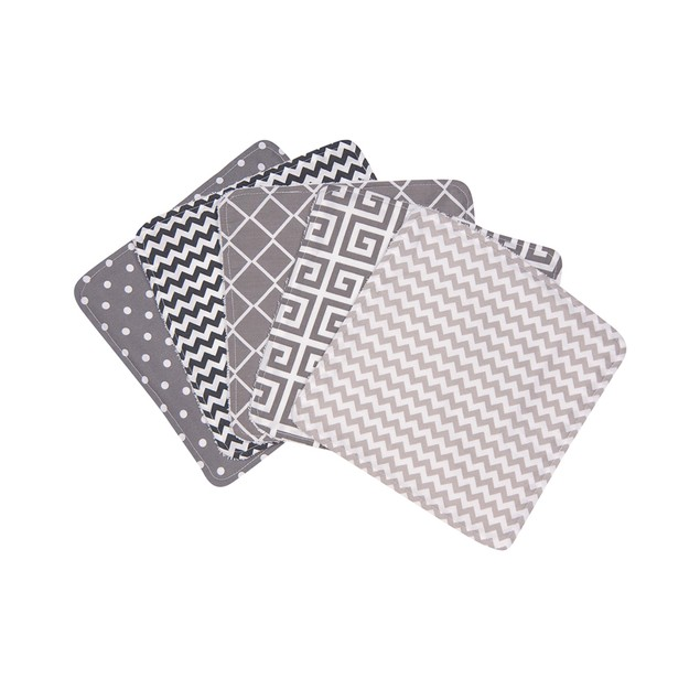 Trend Lab Ombre Gray Wash Cloth Set - 5 Pack