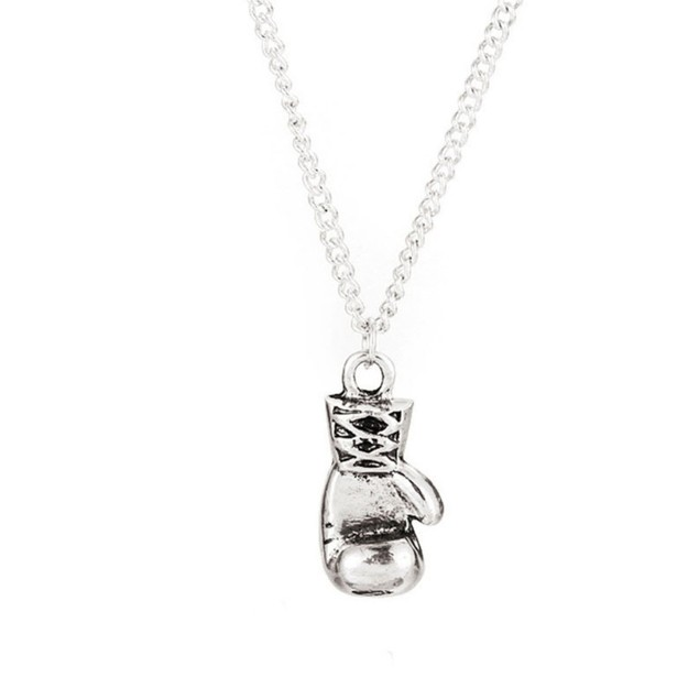Rocky Balboa Boxing Glove Silver Necklace