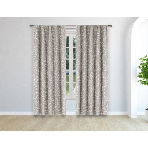 Woven Branches Blackout Window Curtain Pair Panel - Set of 2