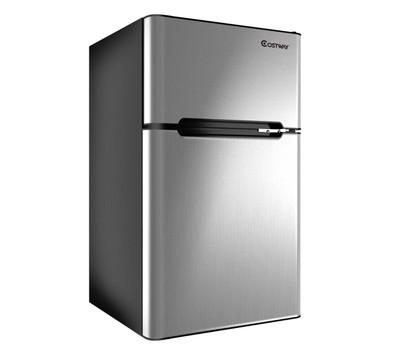 Costway Compact Fridge/Freezer 3.2 cu ft. Was: $299.99 Now: $229.99.