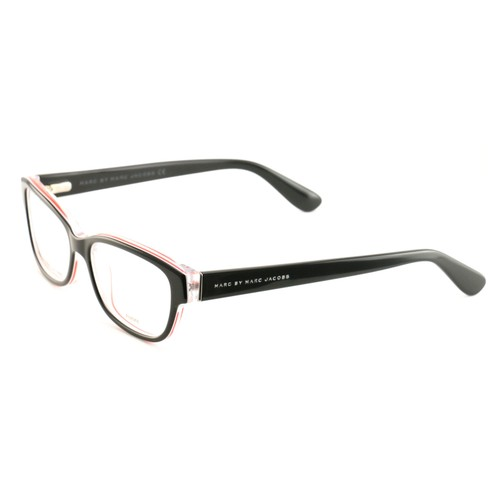 Marc by Marc Jacobs Women's Eyeglasses MMJ 591 0JR Black/Red/Crystal 52 15 140
