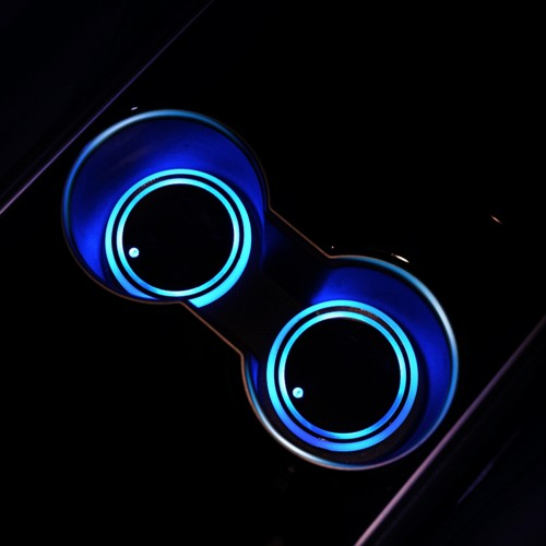 LED 2 Pack Light-Up Car Cup Coasters