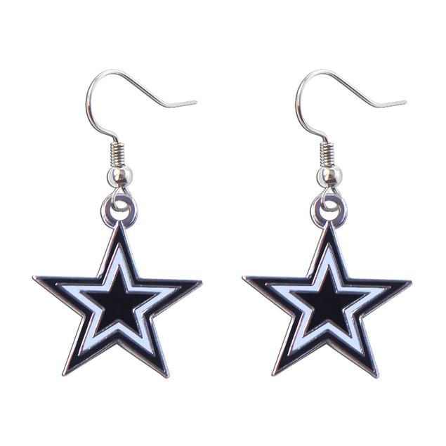 Dallas Cowboys Dangle Logo Earring Set NFL Charm Gift