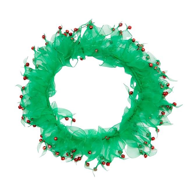 Midlee Wreath Jingle Bell Decorative Dog Collar