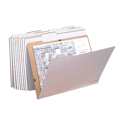 """AOS Flat Storage File Folders - Stores Items Up to 18""""x24"""" - Pack of 10"""
