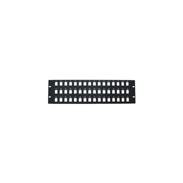 Rackmount 48 Port Blank Keystone Patch Panel, 3U