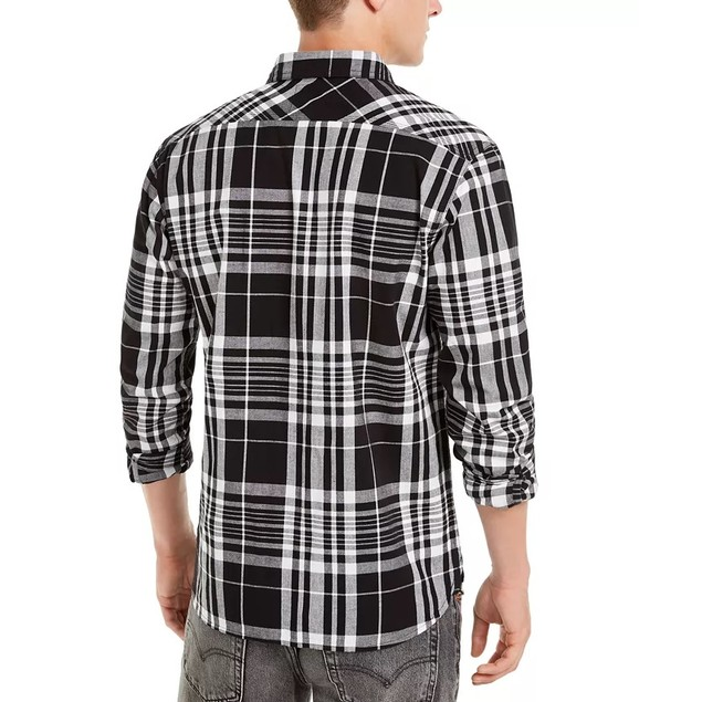 Levi's Men's Noble Plaid Shirt Gray Size Large