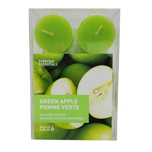 Everyday Essentials Scented Votives, Green Apple, Pack of 6