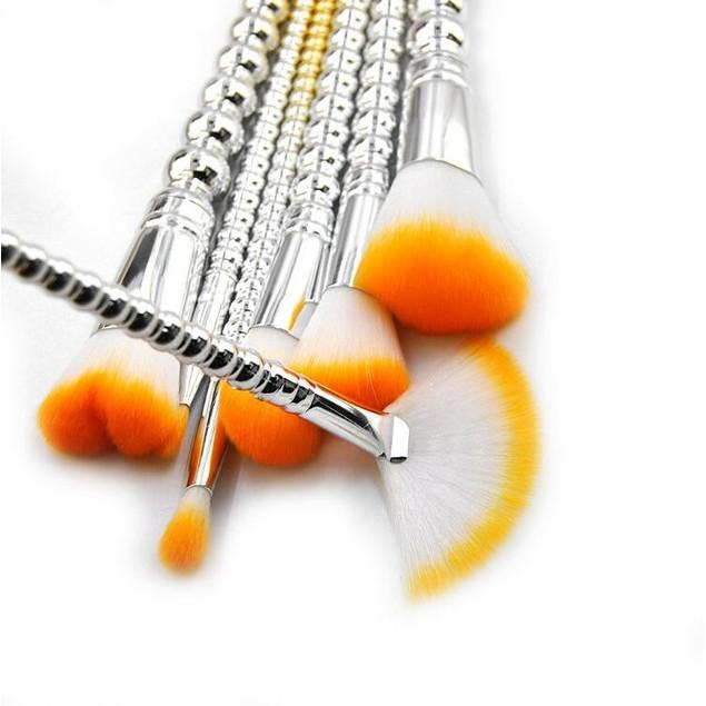 7 Pc Pro Foundation Makeup Powder Cosmetic Lip Brushes Blush Brush Tool Kit