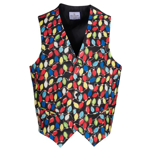 Suslo Couture Men's Slim Fit Christmas Vests