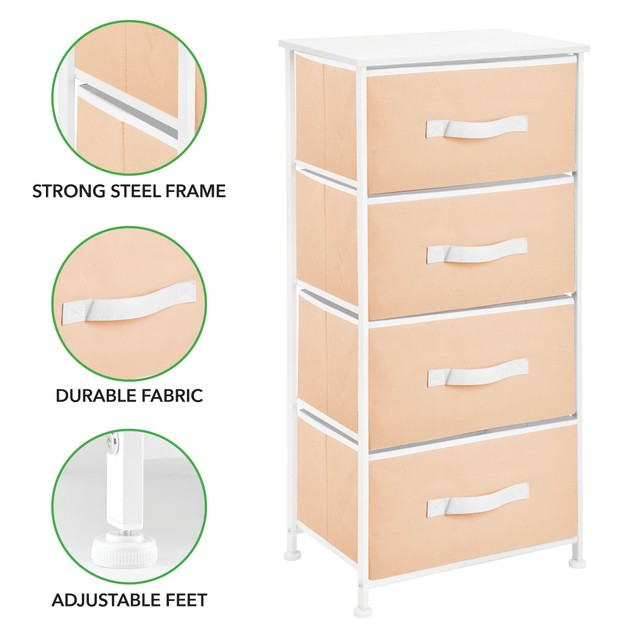 mDesign Vertical Dresser Storage Tower with 4 Drawers - 6 Colors