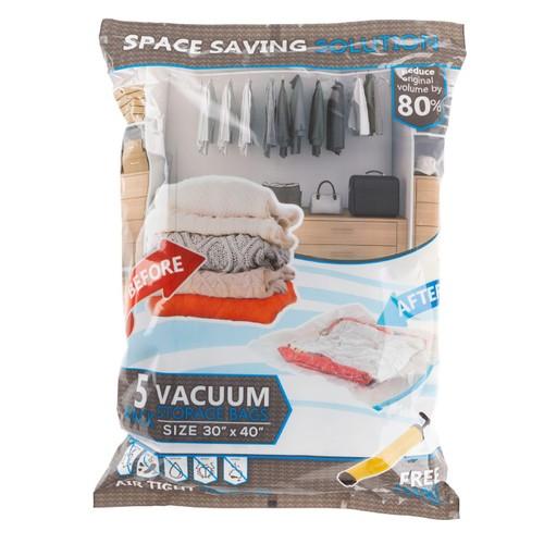 XL Set of 5 Vacuum Storage Bags-Space Saving