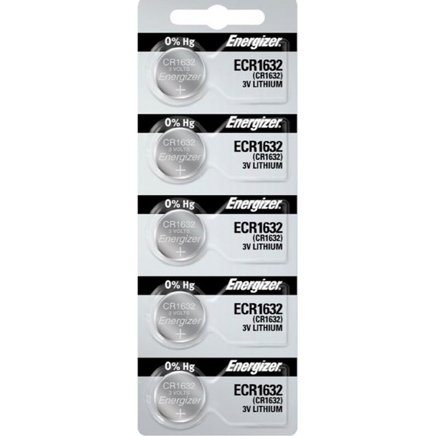 Energizer CR1632 3-Volt Lithium Coin Cell Batteries (5 Batteries)