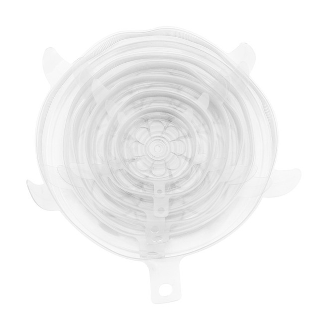 Flower-shaped 6-piece Silicone Fresh-keeping Cover