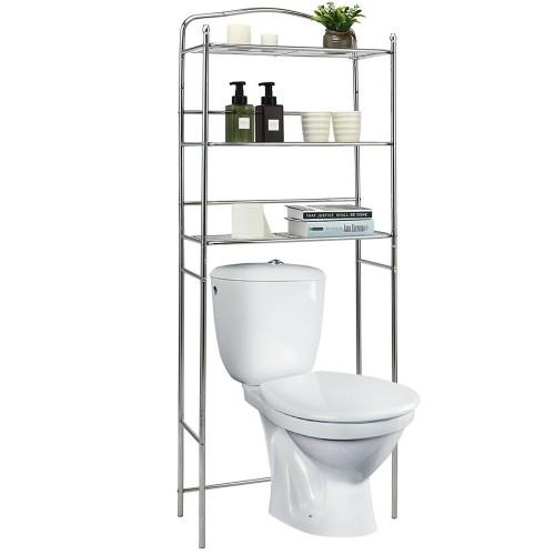 Costway 3-Tier Over The Toilet Bathroom Space Saver Metal Towel Rack Storag