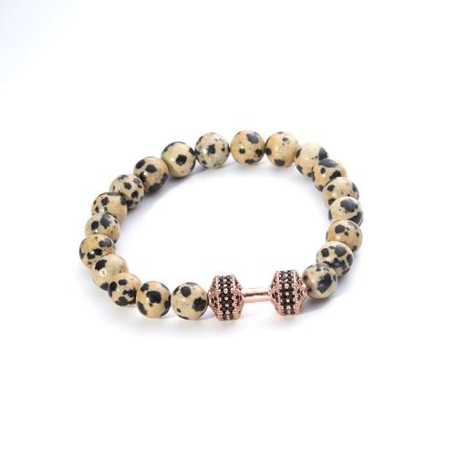Men's Fashion Bead Ball Bracelet Dumbell