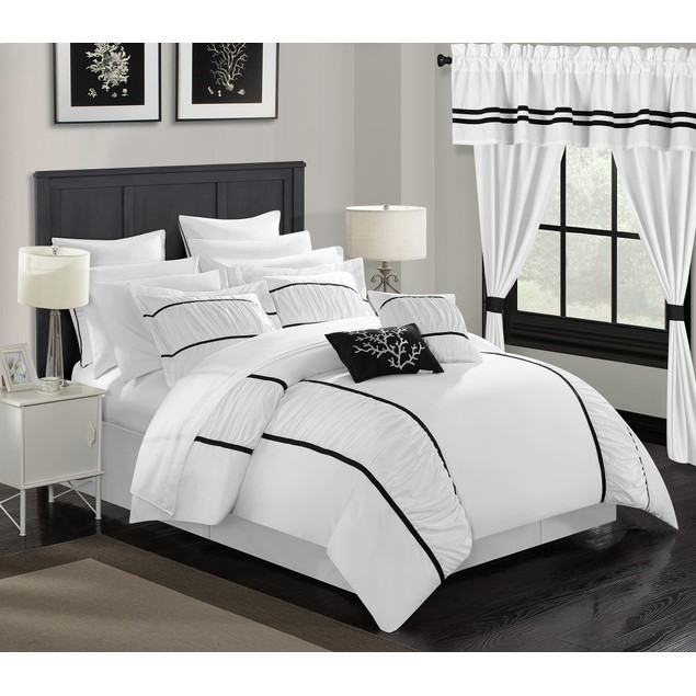 Chic Home 24 Pc. Rivington Bedroom in a Bag Pinch Pleat Comforter Set
