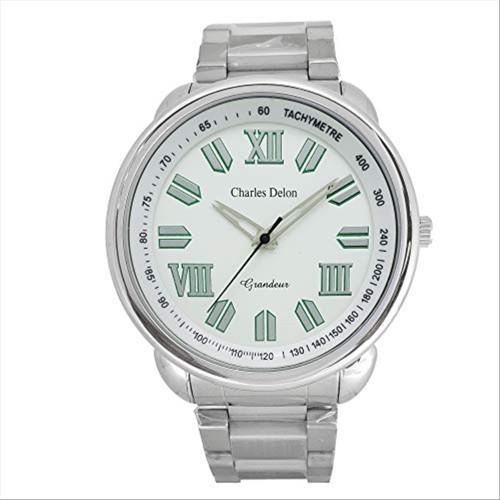 Charles Delon Men's Watches 5089 GPWS Silver/Silver Stainless Steel Quartz Round