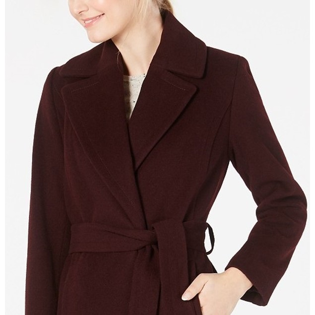 Forecaster Women's Belted Maxi Walker Coat Red Size 6