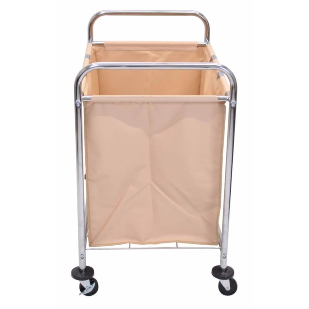 """Luxor 36.5"""" Laundry Cart with Steel Frame and Canvas Bag, 3 Pack"""