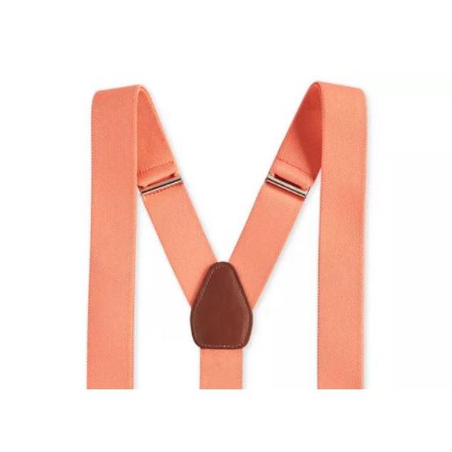 Club Room Men's Stretch Solid Suspenders Orange Size Regular
