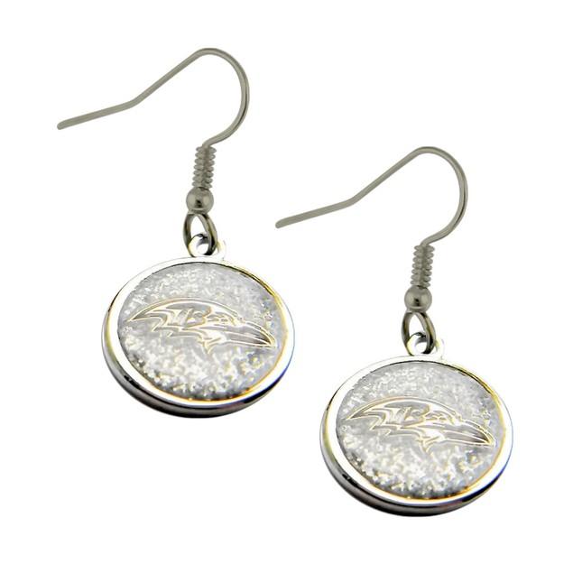 NFL Sports Team Glitter Sparkle Dangle Logo Earring Set Charm Gift