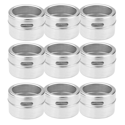 MandW Set Of 12 Magnetic Spice Tins