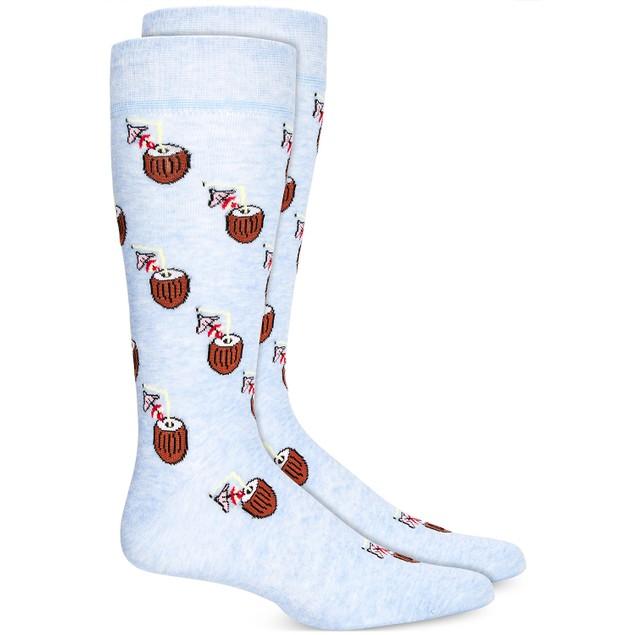 Bar III Men's Coconut Socks Blue Size Regular