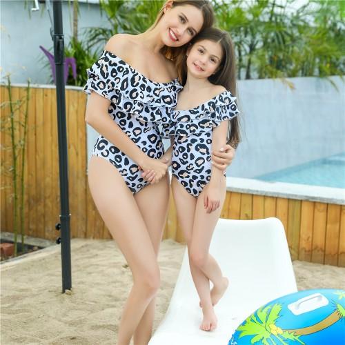 Parent-child Ruffled Swimwear