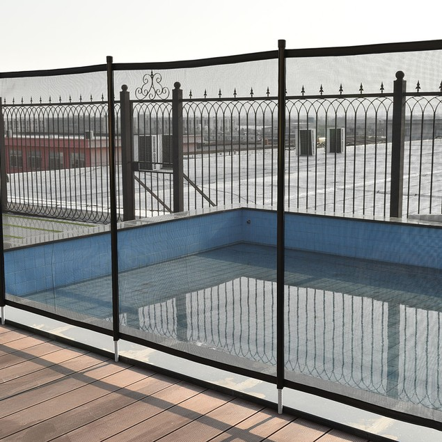 Costway 4X12 In-Ground Swimming Pool Safety Fence